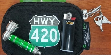 small bag with stuff