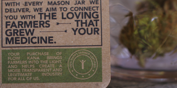 flow kana mason jar packaging
