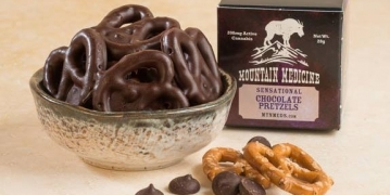 mountain medicine pretzels in a bowl